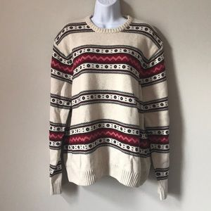 Chaps 100% Cotton Chunky Knit Sweater Size XXL